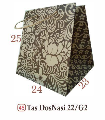 tas nasi dos nasi tas motif tas kertas paperbag paper bag